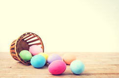 Ovos da páscoa coloridos do vintage Foto de Stock