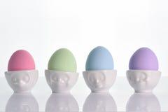Ovos da páscoa coloridos pasteis Fotos de Stock