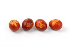 Ovos da páscoa com decoração do eco imagens de stock royalty free