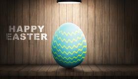 Ovos da páscoa com a lâmpada leve Imagem de Stock