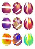 Ovos da páscoa feitos das fitas Fotografia de Stock