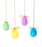 Ovos da páscoa consideravelmente coloridos Imagens de Stock Royalty Free
