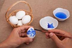 Ovos da páscoa da pintura Imagem de Stock
