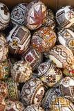 Ovos da páscoa de Bucovina Fotografia de Stock