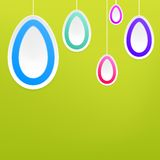 Ovos da páscoa de suspensão. + EPS8 Foto de Stock Royalty Free
