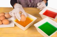 Ovos da páscoa de tingidura Imagem de Stock Royalty Free
