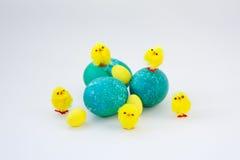 Ovos da páscoa decorados Imagem de Stock