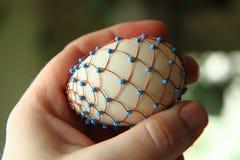 Ovos da páscoa decorados com fio foto de stock royalty free