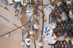 Ovos da páscoa decorados em Salzburg Imagem de Stock