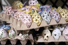 Ovos da páscoa decorados em Salzburg Foto de Stock Royalty Free