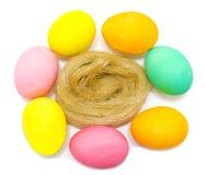 Ovos da páscoa decorados feitos a mão coloridos Foto de Stock Royalty Free