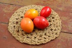 Ovos da páscoa decorativos coloridos Imagens de Stock
