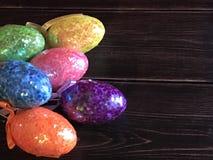 Ovos da páscoa do brilho Fotografia de Stock Royalty Free