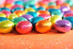 Ovos da páscoa do chocolate Imagem de Stock Royalty Free