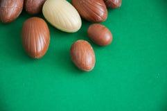Ovos da páscoa do chocolate Fotos de Stock