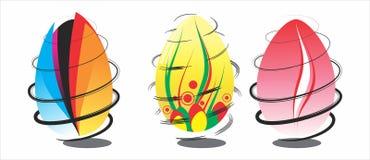 Ovos da páscoa do projeto ilustração stock