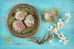 Ovos da páscoa do vintage Imagem de Stock