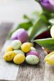 Ovos da páscoa dos doces verticais Fotografia de Stock