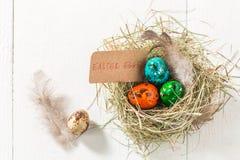 Ovos da páscoa ecológicos Imagens de Stock