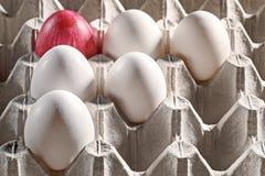 Ovos da páscoa em uma gaveta Fotografia de Stock