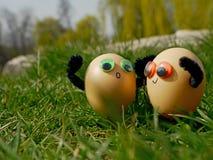 Ovos da páscoa engraçados Imagens de Stock