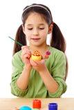 Ovos da páscoa inspirados da pintura da menina Imagem de Stock