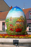 Ovos da páscoa, Koprivnica Foto de Stock
