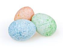 Ovos da páscoa no branco Imagem de Stock Royalty Free