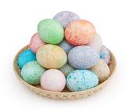 Ovos da páscoa no branco Imagens de Stock