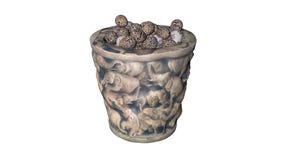 Ovos da páscoa no frasco Fotos de Stock Royalty Free