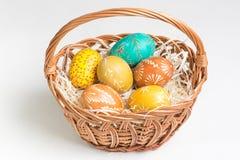 Ovos da páscoa paited mão Foto de Stock