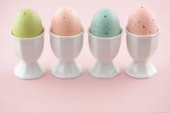 Ovos da páscoa pasteis Fotografia de Stock