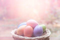Ovos da páscoa pasteis Imagens de Stock
