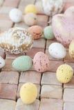 Ovos da páscoa pasteis Imagem de Stock Royalty Free