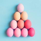 Ovos da páscoa pasteis Foto de Stock