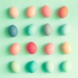 Ovos da páscoa pasteis Fotos de Stock