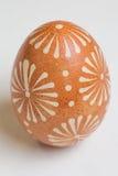 Ovos da páscoa pintados à mão no branco Imagens de Stock Royalty Free