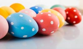 Ovos da páscoa pintados nas cores pastel Foto de Stock Royalty Free