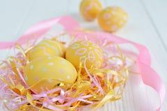 Ovos da páscoa pintados nas cores pastel Imagem de Stock Royalty Free