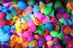 Ovos da páscoa plásticos Foto de Stock