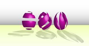 Ovos da páscoa roxos feitos das fitas Fotos de Stock Royalty Free