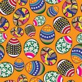Ovos da páscoa sem emenda do teste padrão Foto de Stock