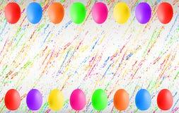 Ovos da p?scoa coloridos com copyspace foto de stock royalty free
