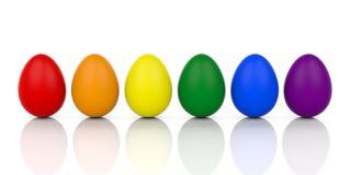 ovos da rendição 3d em cores alegres da bandeira ilustração royalty free
