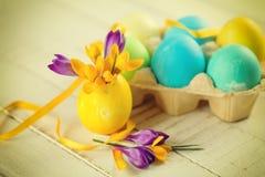 Ovos das flores e de Easter Fotos de Stock