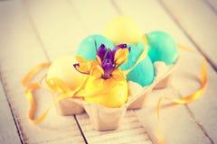 Ovos das flores e de Easter Fotografia de Stock