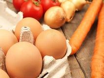 Ovos de Brown orgânicos Fotos de Stock