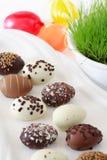 Ovos de chocolate de Easter fotos de stock