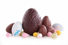 Ovos de chocolate de Easter imagem de stock royalty free