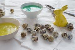 Ovos de codorniz da coloração Foto de Stock Royalty Free